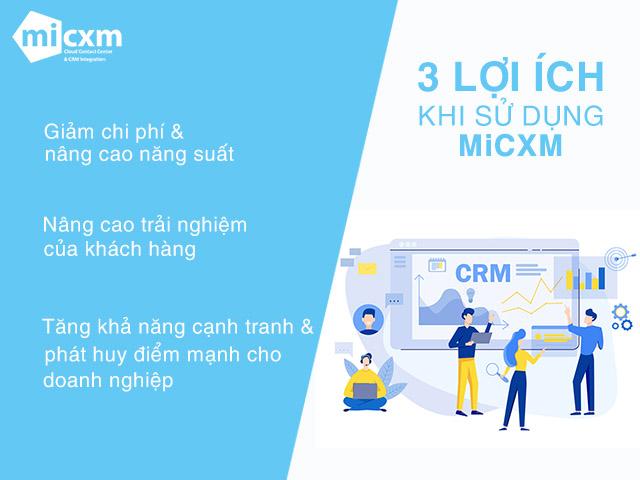 3 lợi ích khi sử dụng MiCXM Contact Center